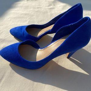 Jessica Simpson Cobalt Blue KidsSuede Heels 8.5 M